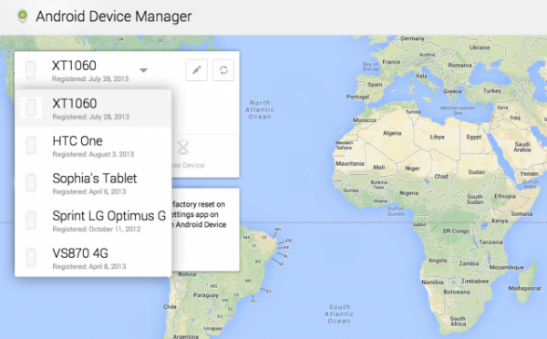 android trick device manager