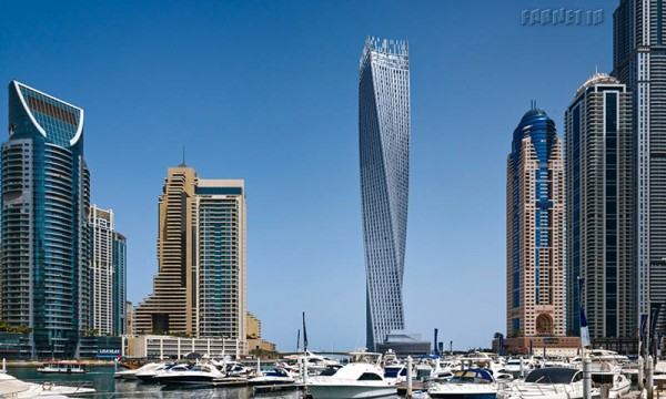 Middle East and African winner, Cayan Tower, Dubai, United Arab Emirates